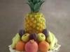 Fruit display on glass stand