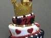 Alice in Wonderland set - Queen of Hearts cake