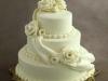 Cream three-tiered wedding cake