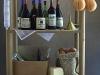 Cellar rack with wine