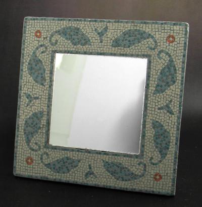Blue leaves mirror