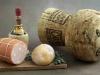 Board with Chianti, bread and bologna